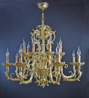 Lampara de bronce estilo clásico fabricado artesanalmente en Bronceart