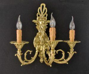 Aplique clásico de bronce estilo clásico con cara de león fabricado en fundición a tierra artesanalmente