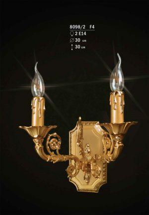 Aplique de bronce para alta decoración